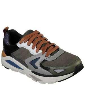 Skechers Herren Verrado Brogen Hohe Sneaker, Grau (Grey