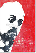 "BILL BAILEY ""HAPPINESS"" ART PRINT PHOTO POSTER GIFT QUOTE BAILY"