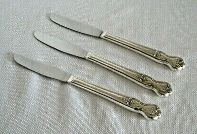 "Wm Rogers Co 1951 Magnolia Inspiration Silverplate 4 dinner Knives 9/"" look new"