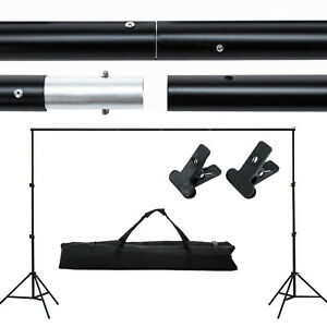 10ft Adjustable Photography Background Support Stand Photo Backdrop Crossbar Kit 699982757172