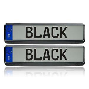 Suzuki-Grand-Vitara-2x-Noir-Blanc-Mise-au-Point-Kennzeichenhalter-Rahmen-Neuf