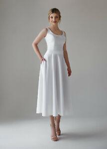 Wandenlang Brautkleid Spitze Satin Hochzeitskleid Kleid ...