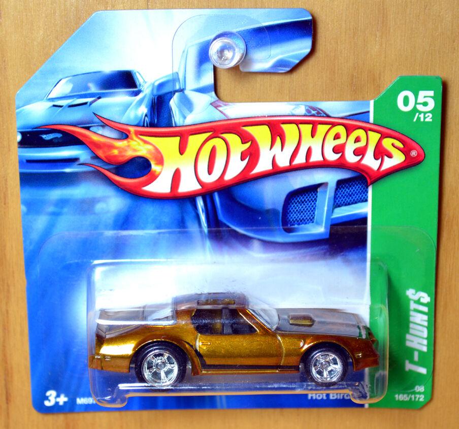 Hot Wheels SUPER T-Hunt Trans Am Hot Bird - New Sealed RARE Short Card