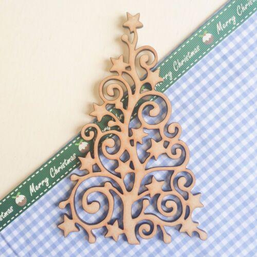 Wooden MDF Christmas Tree Shape Blank Celebrations Wedding Guestbook Wood Craft