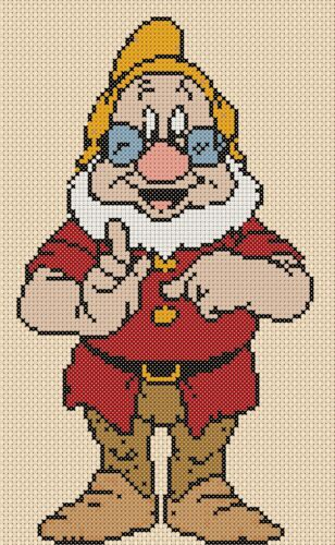 Seven Dwarfs DOC Counted Cross Stitch COMPLETE KIT #10120