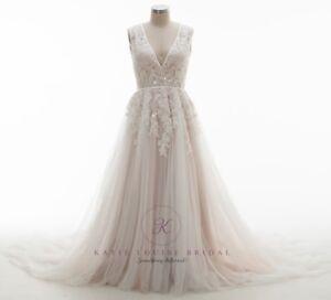 Image Is Loading Uk Stunning Wedding Dress Size 14
