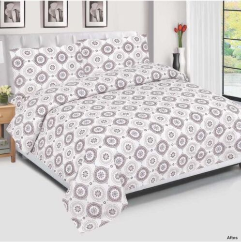 Aftos Egyptian Cotton Duvet Cover Set Quilt Bedding Set+Sheet Pillow Cases