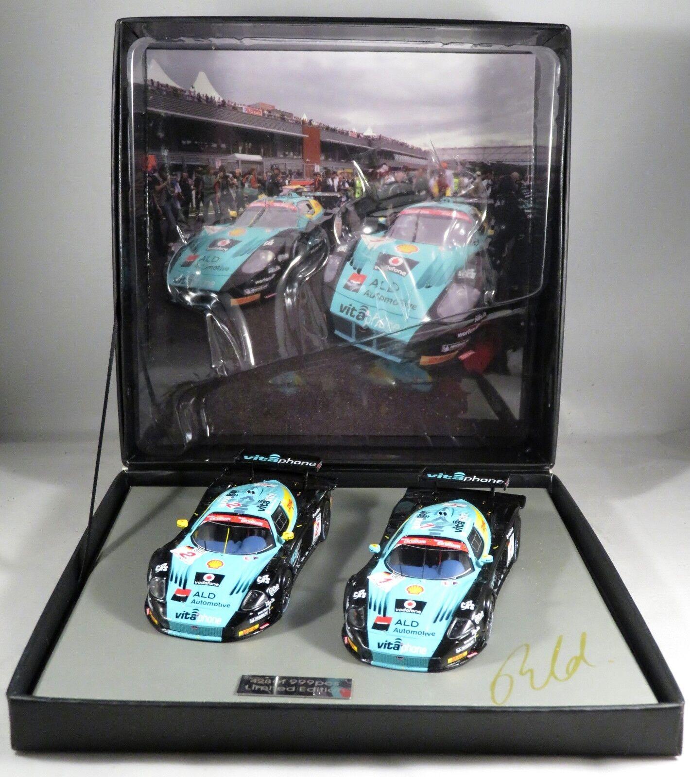MASERATI MC12 GT1 VITAPHONE GIFT SET 1-2 SPA 2008 signed Bertolini 999p IXO 1 43