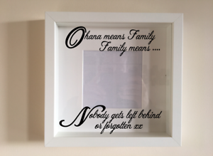 IKEA RIBBA Box Frame Personalised Vinyl Wall Art Quote Mothers Day Mum Love