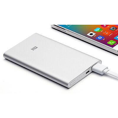 Bateria Externa Xiaomi (Original) Mi Power Bank 5000mAh, 5V/2.1A, USB, Ultrafina