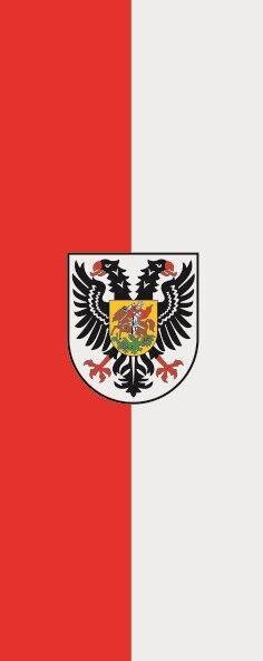 Fahne Flagge Ortenaukreis im Hochformat verschiedene Größen