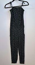 H & M Girl's One Leopard Print Knit Jumpsuit Size 13-14Y