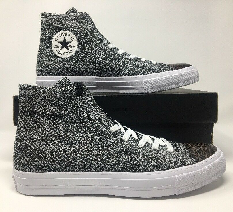 Converse Chuck Taylor All Star HI Flyknit Black/Wolf Grey 157510C Men's Size 11