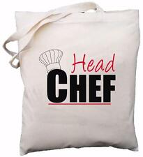 Head Chef - Natural Cotton Shoulder Bag - Baker / Cook Gift