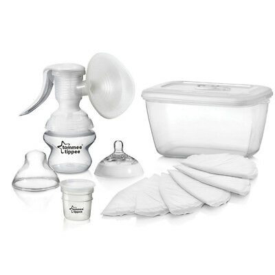 Tommee Tippee Closer to Nature Manual Breast Pump BPA Free With Accessories