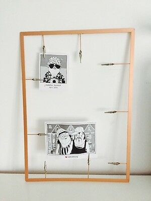 MODERN COPPER ROSE GOLD PHOTO POLAROID PICTURE MEMO HOLDER OFFICE FRAME WIRE