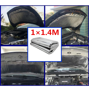 waterproof 1 heat shield mat car turbo exhaust muffler hood insulation pad ebay. Black Bedroom Furniture Sets. Home Design Ideas