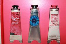 L'OCCITANE 3 Tubes Pivoine Flora-Shea Butter-Rose- Delightful Hands Collection