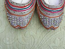 Pink Ladies Indio Boda Khussa tamaño del zapato 5
