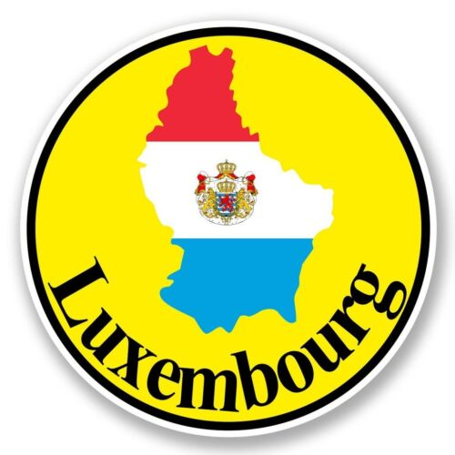 2 X Mapa De Bandera De Luxemburgo Pegatina de vinilo Laptop Viaje Equipaje Coche #6040
