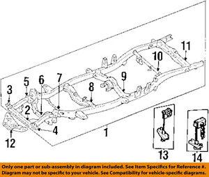s l300 toyota oem 92 95 pickup frame crossmember 5120135240 ebay