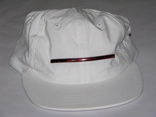 SUPREME New York Chrome Stripe Camp Cap Hat WHITE Adjustable NEW! S S 2017 8c16814a2c5