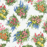 Moda Fabric Wildflowers Vii Bouquets On Cloud- Yards