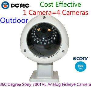 Details about Panorama Fisheye 700TVL Sony effio CCD wide angle cctv 360  degree camera outdoor