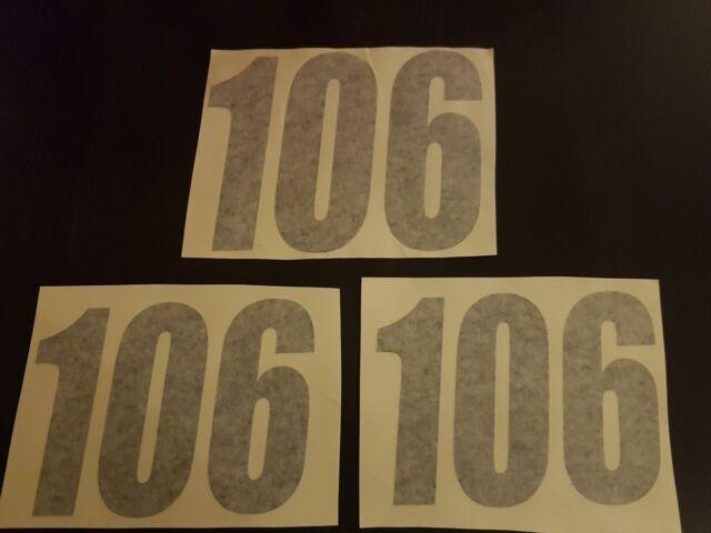3 x autocollants  numéros de course Husqvarna FE TE FC 250 350 450