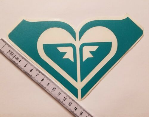 """2x ROXY Outerwear Stickers Vinyl 6.5/"""" DIE CUT Decal Teal Limited Edition"""