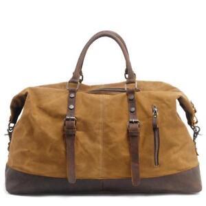 Men Canvas Tote Weekend Voyage Vintage Bag Carry Duffel épaule erdCxBoW