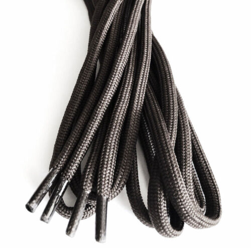 MILITARY COMBAT BOOT LACES heavy duty black nylon long 180cm Army hiking shoes