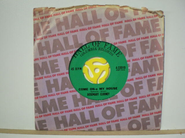 45 Vinyl Records Rosemary Clooney Come On-a My House