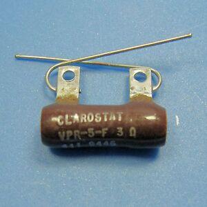 Clarostat-3-Ohm-5W-5-Wirewound-Power-Resistor-Axial-Wire-Lead-Ceramic-Case-NEW