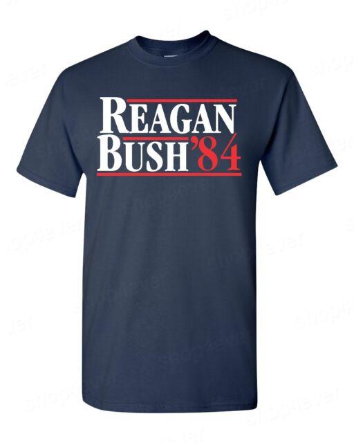 REAGAN BUSH `84 Hoodie Political Election Ronald 80s Retro Republican Sweatshirt