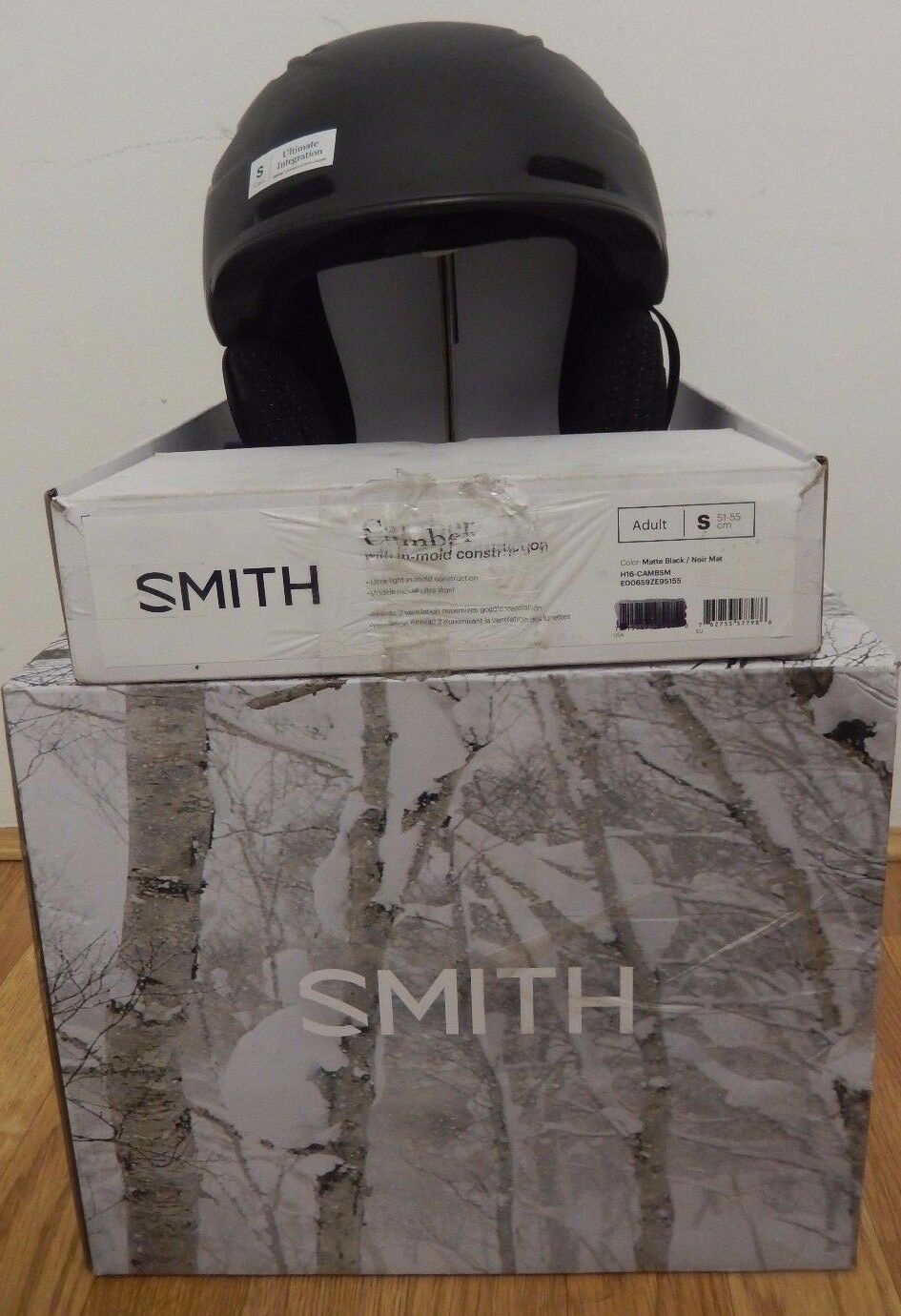 Smith Camber Snowboard Ski Helmet,  S, Charcoal  the newest