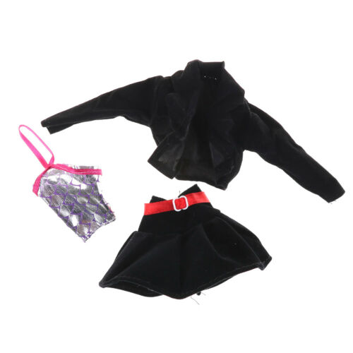 3pcs//set Fashion Handmade Party Office Clothes Dress For   Doll Gift Toy JqFBDC