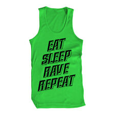 Eat Sleep Rave And Repeat EDM Dance Music Hardstyle Life Mens Tank Top