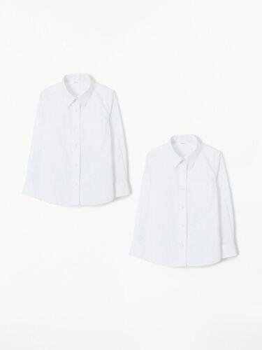 Uniformes Pack 2 Niñas Escuela Camisa Blusa Blanca De Manga Larga Liso Uniforme Edades 3 16 Años Com