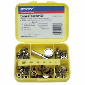 Attwood 12158-7 47 Piece Canvas Snap Fastener Kit