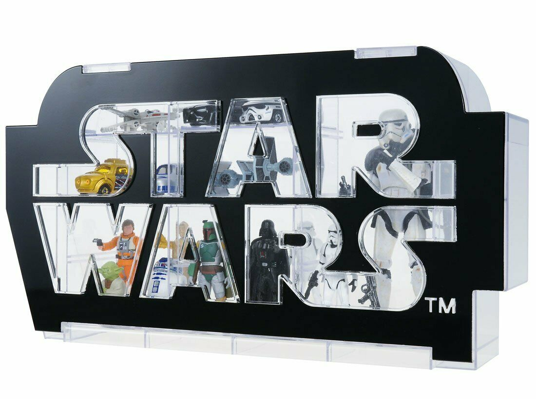 Star Wars logo display case FROM JAPAN NEW.