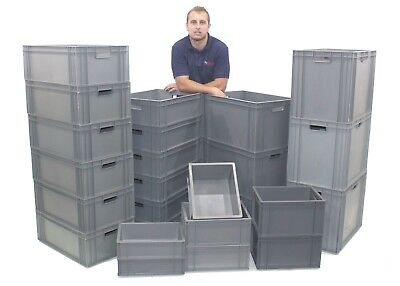 NEW Extra Strong Industrial Plastic Euro Storage Boxes Box Great Choice Of Sizes