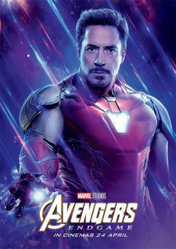 Avengers Endgame Movie 2019 Edition Characters Iron Man Poster