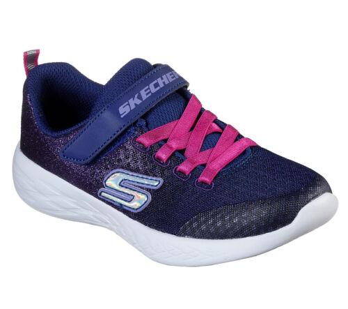 Skechers Girls Go Run 600 Sprinkle Splash NVPK Trainers 100