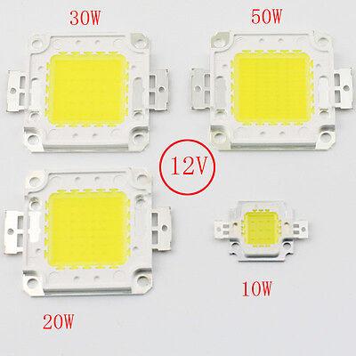 DC12V 10W 20W 30W 50W Cold White 6000-6500K High Power LED chip White bulb Flood