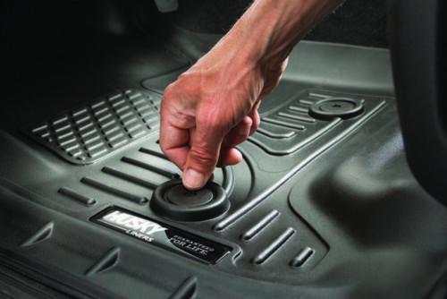 2009-2016 Dodge Ram Quad Cab-2 Row Black Husky Liners WeatherBeater Floor Mats