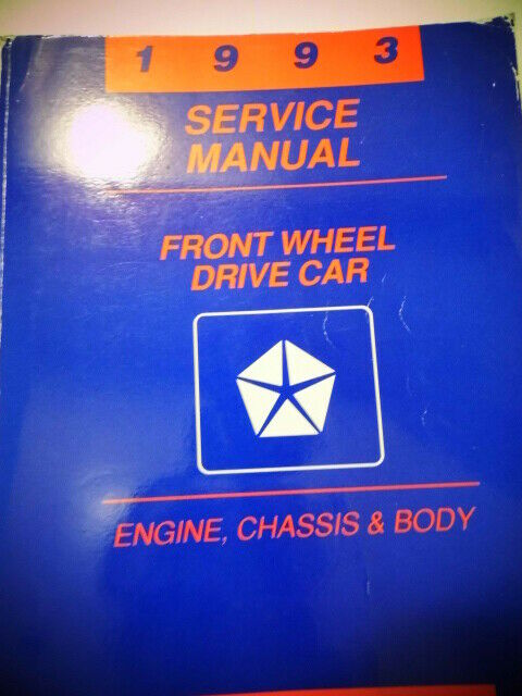 1993 Chrysler Front Wheel Car Engine Chassis  U0026 Body