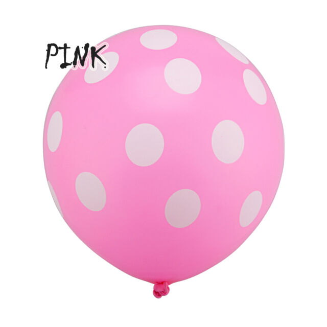 "10,20,50,100 pcs Latex Polka Dot Balloon Party Wedding Birthday Decorating 12"""