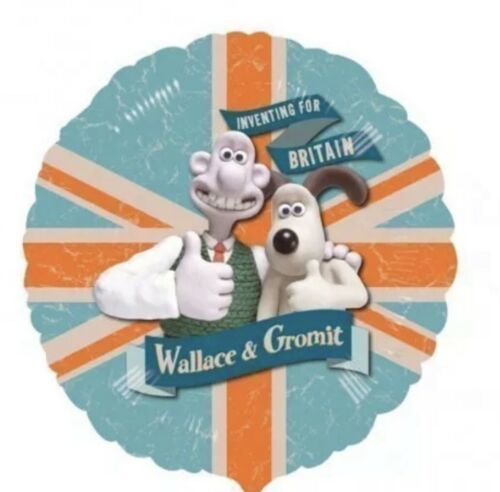 "Wallace /& Gromit 9/"" Mini Foil Balloon Birthday Party Balloon On A Stick"