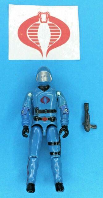 GI Joe 1983 Cobra Commander Swivel -Arm Figure w/ Dark Gray Gun - Hasbro